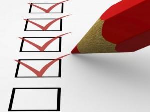 En checklista är ett smart redskap